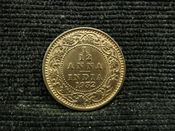 India, George V, 1/12th Anna 1932, EF, JAT958